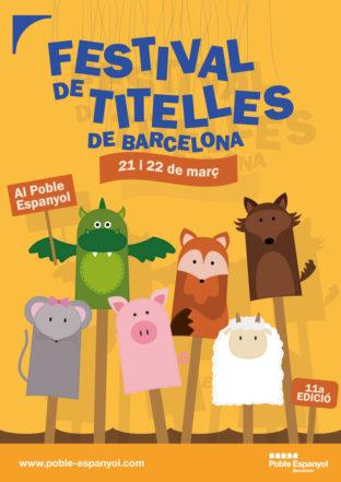Cartell festival titelles Barcelona 2020 - públic familiar